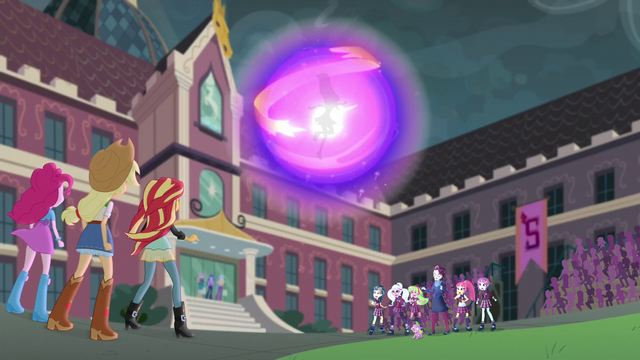 File:Wondercolts and Shadowbolts looking at Sci-Twi engulfed EG3.png