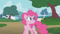Pinkie Pie talking about Rainbow Dash S01E05