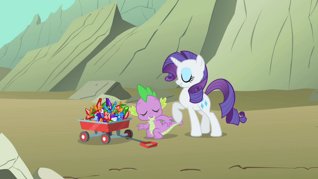 File:Rarity and Spike hunting for gems S1E19.png