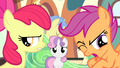 Apple Bloom disappointed and Scootaloo revolted S4E19.png