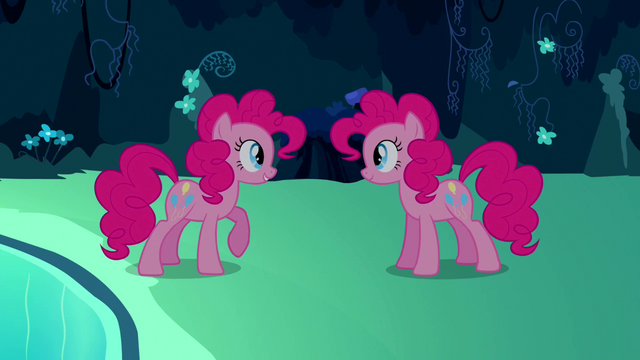 File:Pinkie Pie copying herself for first time S3E3.png