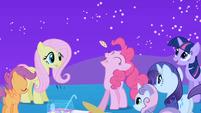 Pinkie Pie enjoying Spike's cookies S1E24