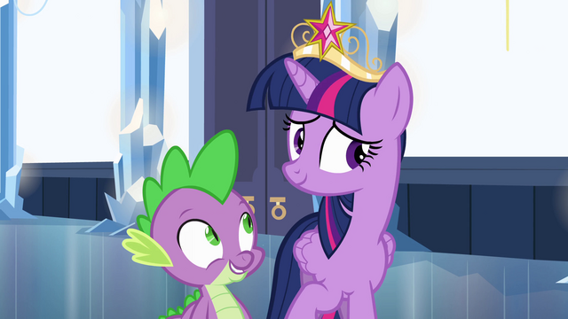 File:Bashful Twilight and Spike EG.png