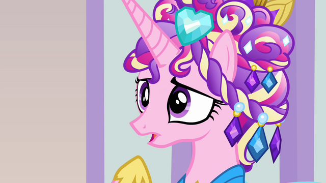 "File:Cadance ""what was wrong with your welcome?"" S03E12.png"