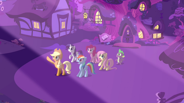 File:Main 5 and Spike outside the library S03E13.png