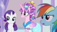 Rarity & Rainbow Dash hear Ms. Peachbottom S3E12