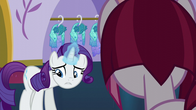 "File:Rarity disappointed ""yes, of course"" S5E14.png"