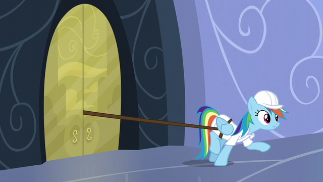 File:Tank's leash gets stuck between the doors S5E5.png