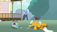 Trixie looking at a young snips and old snails S3E5