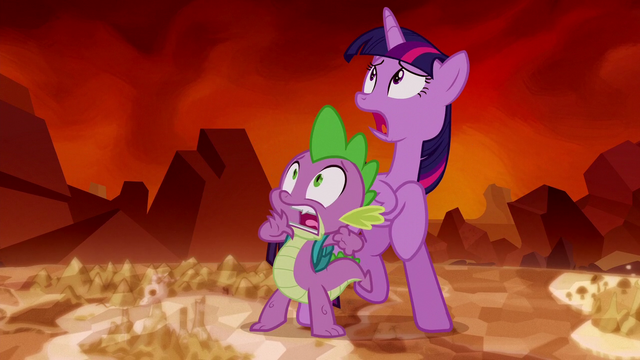 File:Twilight and Spike sees Tirek S5E26.png