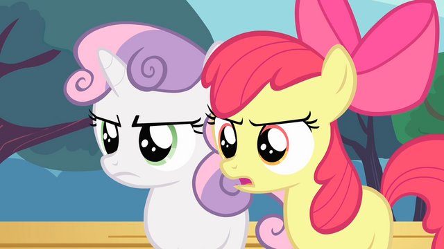 File:Apple Bloom and Sweetie Belle angry S4E05.png