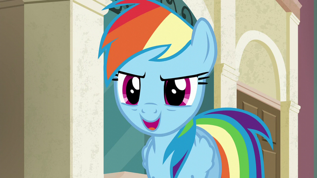 "File:Rainbow ""to me, that means the fastest"" S6E9.png"