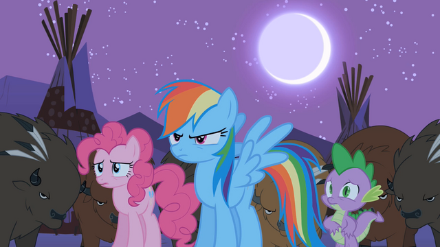 File:Rainbow Dash, Pinkie Pie, and Spike looking worried S01E21.png