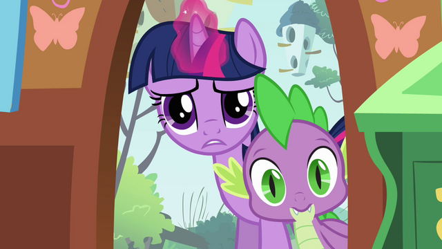 File:Twilight and Spike peeking inside S03E13.png
