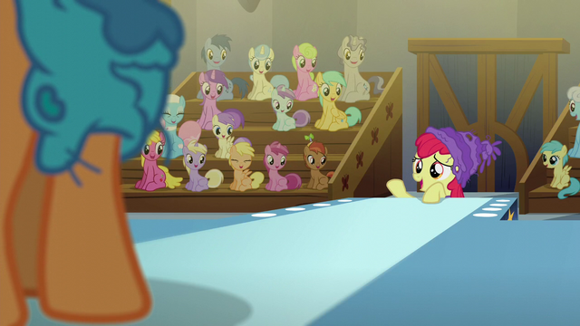 "File:Apple Bloom ""can't be any worse than I was"" S6E4.png"