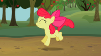 Apple Bloom bounding happily S2E05