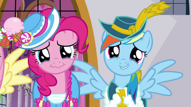 File:Pinkie Pie and Rainbow Dash about to cry S03E13.png