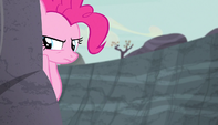 Pinkie spies from behind a rock S5E1