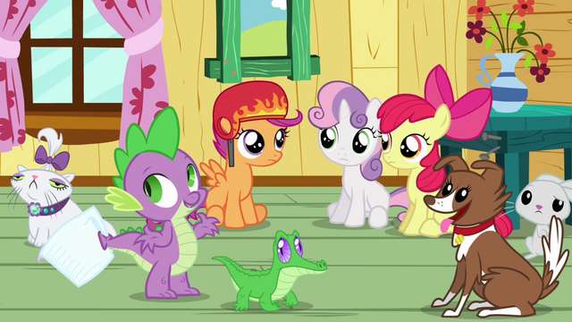 File:Spike, the CMC and the pets S3E11.png
