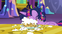 Twilight face-down in her pancakes S5E3
