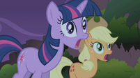 Twilight and AJ worried about Fluttershy S1E02