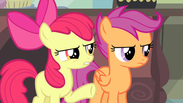 "File:Apple Bloom ""about this for weeks, right?"" S4E19.png"