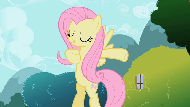 File:Fluttershy striking a pose S2E7.png