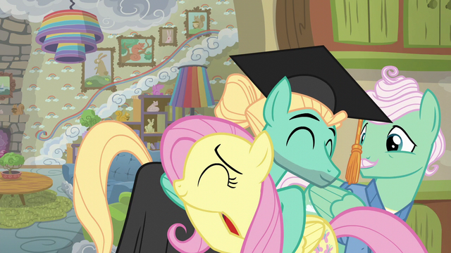 File:Zephyr the graduate and Fluttershy hugging S6E11.png