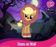 Applejack Nightmare Night promotion MLP mobile game