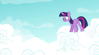Twilight sees Rainbow fall from the cloud S4E21