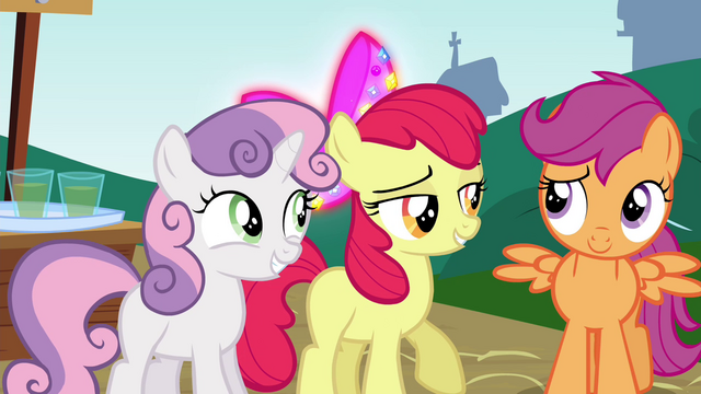 "File:Apple Bloom ""we have arrived"" S4E15.png"