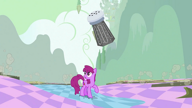 File:Berryshine notices fake buildings of Ponyville falling down S2E02.png
