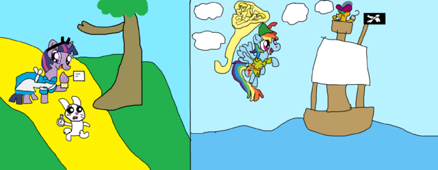 File:FANMADE MLP Alice in Wonderland and Peter Pan.png
