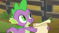 Spike ready with the checklist S6E10