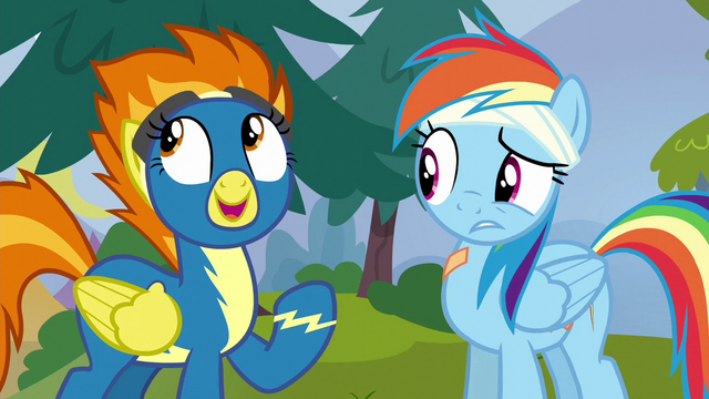 "File:Spitfire ""ever since you joined the Reserves!"" S6E7.png"