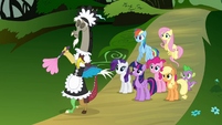 Discord dressed as French maid S4E02