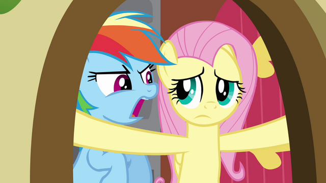 File:Rainbow Dash agitating Fluttershy S2E21.png