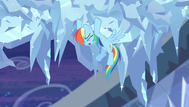 File:Rainbow Dash trying to slow the cloud down S4E24.png