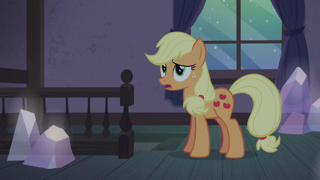 "File:Applejack ""we've gotta do somethin'"" S5E20.png"