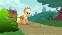 Applejack coming round the corner S4E10