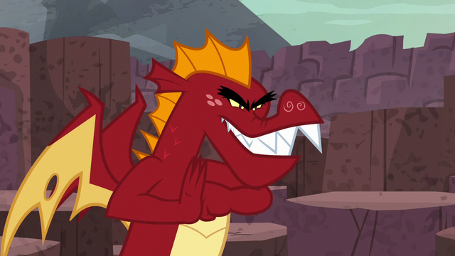 "File:Garble ""get revenge on those puny ponies!"" S6E5.png"