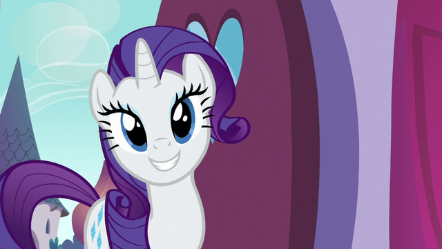 File:Rarity pleased by the reception S5E14.png