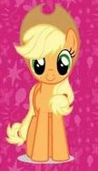 File:FANMADE Applejack pink background.jpg