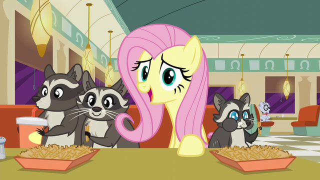 "File:Fluttershy ""Then Smoky Jr. found a nice home in the crawl space"" S6E9.png"
