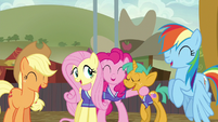 Ponyville team sharing a laugh S6E18