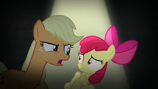 "File:Applejack ""we don't have room for non-apples"" S5E4.png"