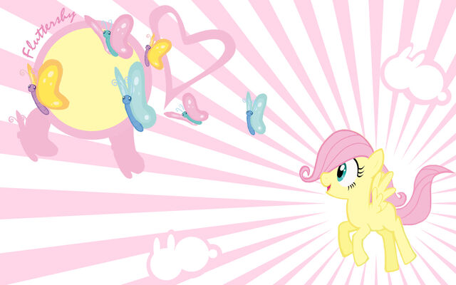 File:FANMADE filly Fluttershy wallpaper.jpg