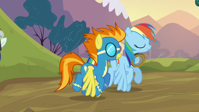 File:Rainbow Dash and Spitfire side by side S2E22.png