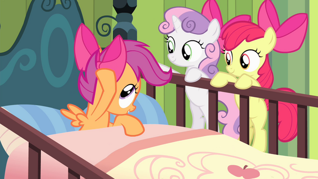 File:Scootaloo touches bow S4E17.png
