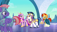 Cadance, Shining Armor, and Sunburst arrive S6E16